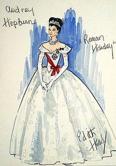 The Sketch Artist: 18 Classic Film Costume Designs by Edith Head featured on Audrey Hepburn, Grace Kelly, Tippi Hedren, Kim Novak, Marlene Dietrich, Elizabeth Taylor, Bette Davis, and Olivia de Havilland.