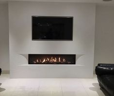 LED-Fireplace – Add Value To Your Home With LED Fireplace Corner Gas Fireplace, Living Room Decor Fireplace, Basement Fireplace, Home Fireplace, Fireplace Design, Home Living Room, Living Room Designs, Fireplaces, Fireplace Suites