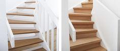 Inredningsbloggare gör om trappa Sedan ett par år tillbaka har vi en inspirerande dialog med Trendenser som utsågs till Årets inredningsblogg på Elle Decoration Award 2016. Det mest aktuella som kommit fram ur vårt samarbete är en renovering av en trappa. Önskemålet var att förvandla en öppen trappa till en stängd med fördelen att utrymmet under trappan kan utnyttjas som förvaringsutrymme. Till trapprenoveringen användes massiva plansteg i 8 mm ek och sättsteg i ek monterades för att stänga.