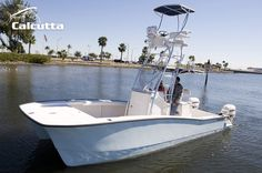 The Calcutta 263 catamaran is an excellent fit for all offshore fishing, diving and leisure use. Our unique catamaran hull design offers a smooth ride Center Console Fishing Boats, Power Catamaran, Sport Fishing Boats, Offshore Fishing, Boat Design, Red Fish, Open Water, Boat Plans, Boat Building