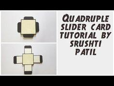 Quadruple Slider Card Tutorial / 4 Sided Slider Card By Srushti Patil | ...