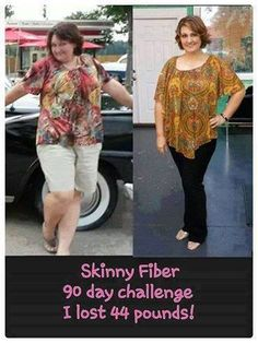 "I am beyond proud!!!! AMANDA LOST 44 POUNDS ON HER 1ST 90 DAY CHALLENGE!!!!!  www.losewithskinnyfiber.com  Amanda says........ ""I can't believe how simple it was to see the pounds melt right off me! I was skeptical at first about trying Skinny Fiber, but I am so glad that I tried it! This has been a great experience for me and my family. I feel so much better. I am not on all the medicines I was on, I have a ton of energy, and I just feel great about myself. I am on my 2nd 90 day challenge…"