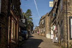 Haworth Main Street. A fantastic section of the Tour de France 2014 route