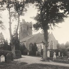 Exterior view of St Peter Dunchurch, Warwickshire, England, UK, photograph by Sir Benjamin Stone, 1899. Museum no. E5491-2000    http://www.vam.ac.uk/content/articles/g/gothic-architecture/#