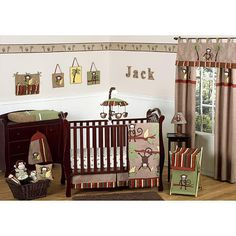 "Sweet Jojo Designs Monkey Collection 11-Piece Crib Bedding Set - Sweet Jojo Designs - Babies ""R"" Us"