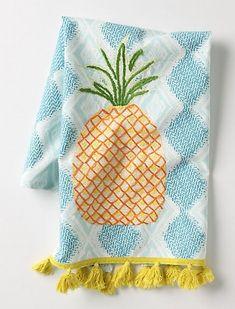 pineapple tea towel.