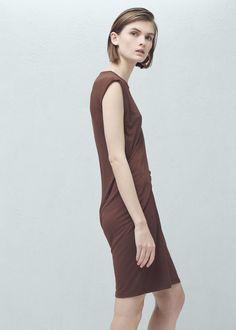 Vestido detalle drapeado | MNG