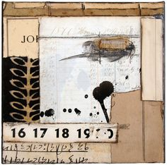 """ collage on deep canvas by Crystal Neubauer Collages, Collage Artists, Collage Artwork, Collage Ideas, Encaustic Art, Art Journal Pages, Art Journaling, Assemblage Art, Mark Making"