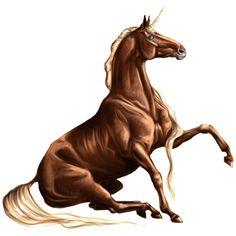 P Khristoph_igr, Unicorn Quarter Horse Strawberry roan - Howrse Amazing Artwork, Cool Artwork, Fantasy Creatures, Mythical Creatures, Charlie The Unicorn, Horse Animation, Unicorn Tattoos, Golden Apple, Winged Horse