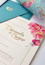 Para inspirar os noivos que gostam de um toque artsy, selecionamos 10 convites de casamento com aquarela em diferentes estilos!