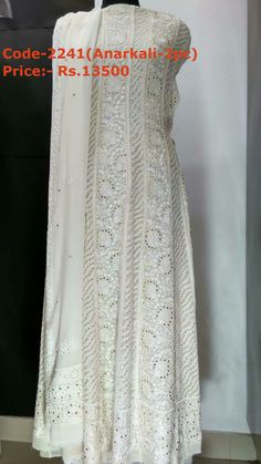Anarkali suit with mukaish work  For details contact us on whatsapp at +91-7408242361