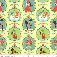 Sheri Berry Designs - Alpine Wonderland - Wonderland in Green from Hawthorne Threads