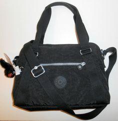 NEW NWT KIPLING Anette Black Satchel Handbag Crossbody Shoulder Nylon HB6498 #Kipling #SatchelCrossbody