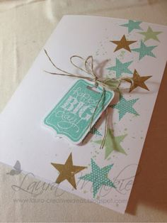 Stampin Up! Ideas & Supplies: Birthday **Star*** using coastal cabana, pistachio pudding and baked brown sugar