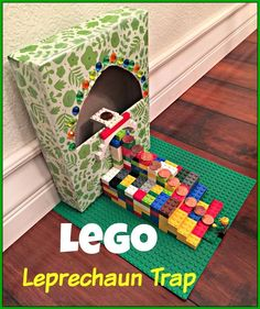 LEGO Leprechaun Trap for St. Patricks Day! #leprechauntrap #kidscraft #diy #stpatricksday #leprechauns