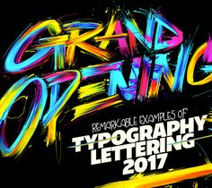 Lettering and Typography Design 2017 | Typography | Graphic Design Junction