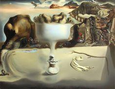 """Dalí """"Aparición de un rostro y un frutero en la playa (1938). Los surrealistas y Arcimboldo http://harteconhache.blogspot.com.es/2013/04/arcimboldo-el-biologo.html"""
