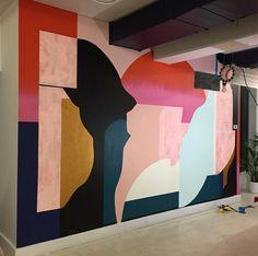 "1,834 synes godt om, 23 kommentarer – @kathrynmac på Instagram: ""Saturday #WIP"" Mural Wall Art, Mural Painting, Wall Design, Art Inspo, Backdrops, Illustration Art, Images, Floral Wedding, Gown Wedding"