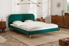 Łóżko Famous 140 cm x 200 cm Szmaragdowo Zielony Aksamit Color Trends, Design Trends, Design Ideas, Navy Blue Furniture, Trending Paint Colors, Interior Decorating, Interior Design, Wall Colors, Elegant