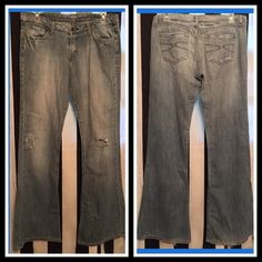BOGO FREE WOMENS LUX  WIDE LEG JEANS DESTROYED THE SOFTEST JEANS EVER ! LUX JEANS - FEELS LIKE A COMFY WORN OUT T-SHIRT - THE DESTROYED REPAIR ELIOT STYLE - THEY RUN ON THE  LARGER SIDE Lux Jeans Flare & Wide Leg