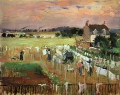 Hanging Out the Laundry to Dry, 1895 by Berthe Morisot