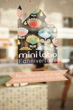 Pop-up store mini labo à l'Espace Beaurepaire #minilabo #popupstoreminilabo #10ansminilabo #Paris