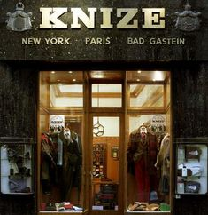 Knize  Timeless elegance for men. Even the Habsburg archdukes greatly valued the services of this tailor. The quality is still the same today.