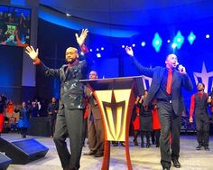 """A propped up and apparently frailer version of controversial megachurch pastor Bishop Eddie Long was paraded before his congregation Sunday as they defiantly sang """"I Got the Victory"""" days after his church denied last Thursday that he was in a hospice. Church News, Hospice, Original Music, Victorious, Finals, Singing, Concert, Pastor"""