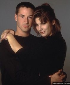 Keanu Reeves and Sandra Bullock Larry Wilcox, Movie Couples, Cute Couples, Hot Actors, Actors & Actresses, Sandra Bullock Speed, Keanu Reeves Movies, Keanu Reeves Speed, Sandro