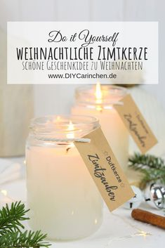 Very Merry Christmas, Christmas Time, Xmas, White Candles, Diy Candles, Candle Labels, Candle Jars, Diy Presents, Diy Gifts
