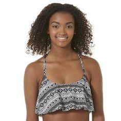 Junior's Flounced Bikini Top - Tribal - Sears