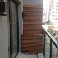 Atelier do Zero Balcony Deck, Balcony Garden, Air Conditioner Cover Outdoor, Feng Shui, Air Conditioning Units, Ares, Small Rooms, Home Decor Inspiration, Blinds