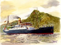 La Palma 1912 al resguardo del Risco de la Concepción - Francisco Noguerol Cajén