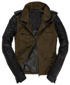 Womens - Megan Skinny Mix Jacket in Army | Superdry