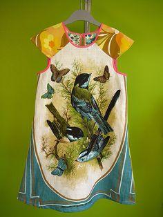 Bird medallion dress 7/8 by kinchimama, www.kinchi.nl