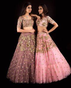 Beautiful blush pink color lehenga and blouse designs from banjara collection of Mrunalini Rao.Shop these pretty outfits and more at bridal asia Delhi. 04 September 2017