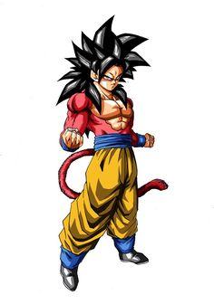 Goku (Dragon Ball GT) (c) Toei Animation, Funimation & Sony Pictures Television Dragon Ball Gt, Goku Bardock, Super Saiyan 4 Goku, Dbz Manga, Kid Goku, Dbz Characters, Comic, Memes, Character Design