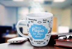 """Sheepworld Tasse """"Papa"""" Barista, Mugs, Tableware, Cold Drinks, Nice Designs, Guy Gifts, Coffee Cups, Father's Day, Dinnerware"""