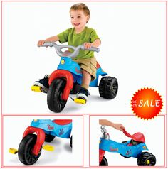 Toddler Trike Motorcycle Tricycle Off Road Kid Ride On Toy Gift Thomas the Train