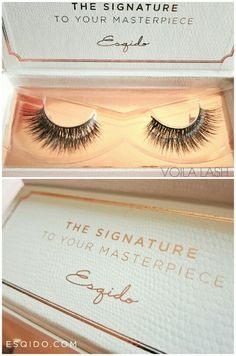 The softest lashes ever - ESQIDO Mink False Lashes in Voila Lash. Perfect for those that LOVES voluminous lashes. They are the ones that Kim K loves and makes her eyes look extremely full.