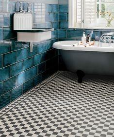 23 Ideas For Bath Room Tiles Grey Flooring Black White Black And White Bathroom Floor, Grey Floor Tiles, White Bathroom Tiles, Bathroom Floor Tiles, Grey Bathrooms, Small Bathroom, Grey Flooring, Rv Bathroom, Wall Tile