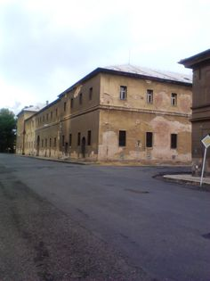 One of the buildings within the village of Terezin where Czech Jews were forced to live during the Holocaust.
