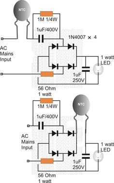 Using an NTC Thermistor as a Surge Suppressor - Homemade Circuit Projects Electronics Mini Projects, Hobby Electronics, Electronics Basics, Electrical Projects, Electronics Components, Simple Electronic Circuits, Electronic Circuit Design, Electronic Engineering, Ac Circuit