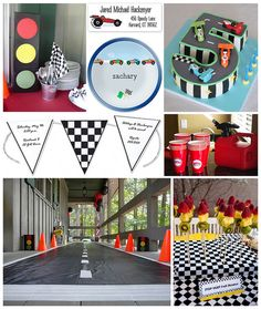 Racecar Kids Party by finestationery, via Flickr