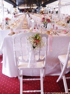 décoration florale mariage sur le bateau libellule à Annecy mille et une organisations de prestige