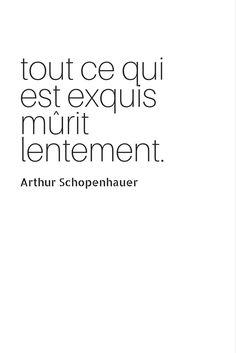 Tout ce qui est exquis mûrit lentement (Arthur Schopenhauer). LA phrase qu'on a envie d'entendre le jour de son anniversaire Happy Birthday #citation #texte #anniversaire