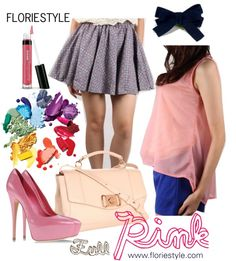 """""""Full Pink"""" by floriestyle on Polyvore"""