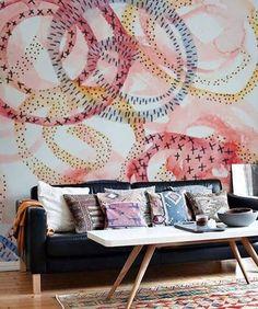 Artistic Vibes 🎨   📸: @_susana_cacho_ #homedecor #homegoals  #interiordesign #homedesign. Wallpaper FurnitureNyc