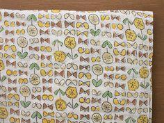 Japanese Fabric Admi Mokuhan print  Sunny Day 07 by MissMatatabi, $10.00