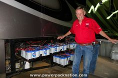 Three-Time #Indy500 winner, Bobby Unser, shows off his #OPTIMA Batteries in his motorhome